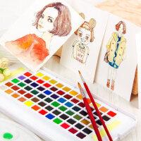 日本樱花牌固体水彩颜料24色36色48色美术专业手绘水彩画笔透明珠光水粉分装颜料套装初学者学生用旗舰店工具