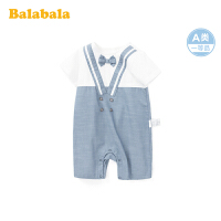 巴拉巴拉宝宝连体衣婴儿衣服可爱超萌新生儿抱衣周岁礼物短袖爬服夏