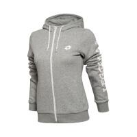 乐途卫衣女士运动生活系列秋季开衫长袖外套连帽针织运动服EWDL024