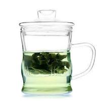 普润 玻璃杯泡茶杯过滤带盖套装茶具