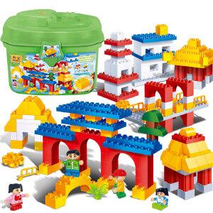 【当当自营】邦宝大颗粒早教创意 益智拼插积木房子儿童玩具传统建筑6511