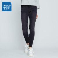 [超级大牌日每满299-150]真维斯女装 冬装  微弹中腰修身牛仔裤