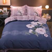 【官方旗舰店】加厚全棉磨毛四件套网红款纯棉床单被套单人床三件套床笠床上用品