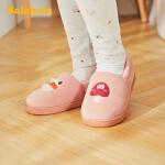 巴拉巴拉儿童棉拖鞋女男小童鞋2019冬季新款防滑软底保暖时尚三棉