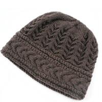 秋冬天手工毛线帽子女士中老年人帽女保暖护耳妈妈帽针织