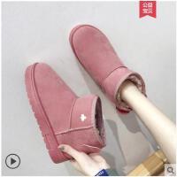 网红雪地靴女中短筒鞋子棉鞋女冬季新款加绒学生韩版百搭女靴