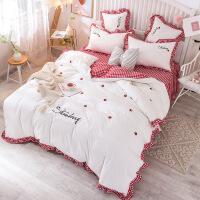 君别夏季床上四件套网红款ins公主风床裙小清新被套床单床上用品