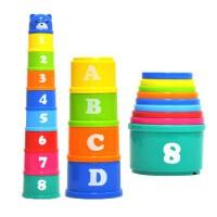 叠叠乐婴幼儿玩具叠叠杯 宝宝套圈幼儿童益智玩具1-2-3-4岁男女孩
