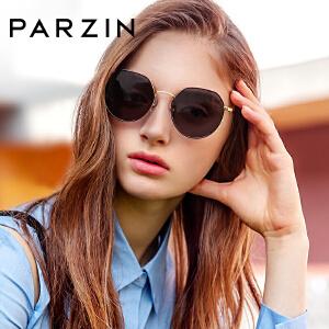 帕森2019新品太阳镜女士时尚多边形金属镜框尼龙镜片潮人墨镜8210