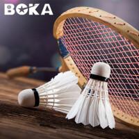 博卡羽毛球超耐打王12只装娱乐练习用球