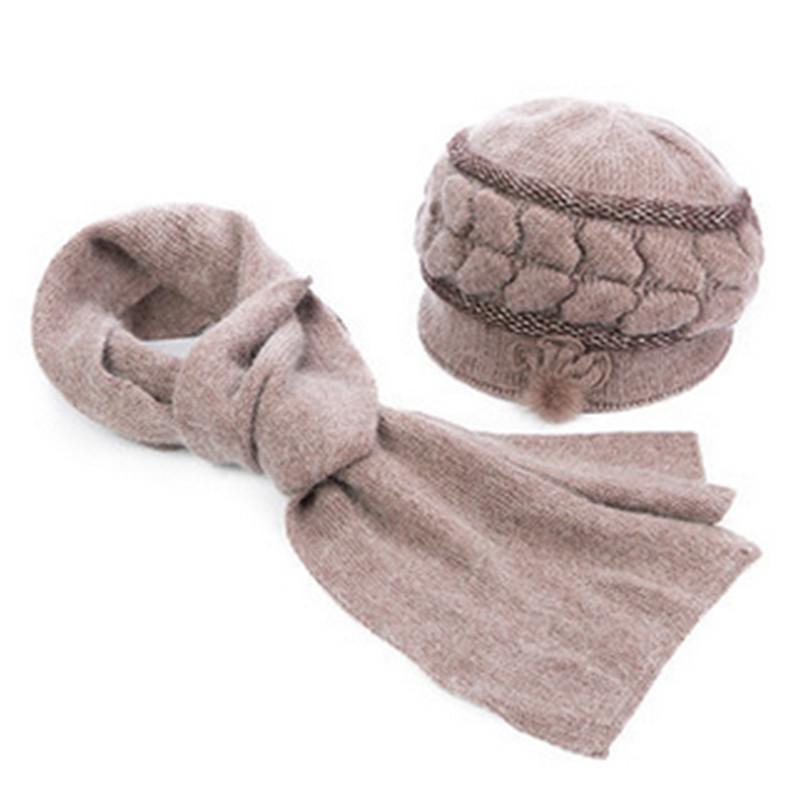 中老年女士帽子冬加厚毛线妈妈冬天针织中年女冬季老人帽子