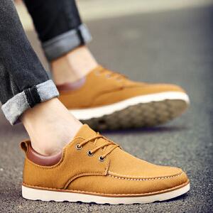 【在线支付送199元手表】罗兰船长 英伦风休闲鞋男工装时尚潮流靴子 D