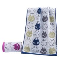 儿童时尚毛巾纯棉洗脸家用小毛巾全棉宝宝擦脸巾柔软吸水卡通猫