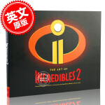 现货 超人总动员2 电影艺术画册设定集 英文原版 The Art of Incredibles 2 迪士尼皮克斯 Di