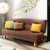 亿家达沙发布艺沙发床简约现代小户型沙发客厅家具三人沙发可折叠(此款送两个抱枕)