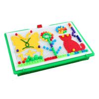 蘑菇钉组合拼插板儿童拼图益智玩具3-6周岁蘑菇丁男女孩 410件+送100粒小钉