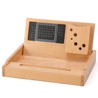 木质多功能办公用品桌面收纳盘 文具杂物收纳整理盒创意礼品