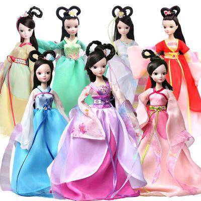 可儿娃娃 七仙女 古装衣服 儿童关节体 洋娃娃女孩玩具礼物套装 芭比娃娃 好礼相送 全场下单满立减!!