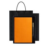 商务加厚记事本皮面笔记本文具礼品套装本子定制定做礼盒可印LOGO