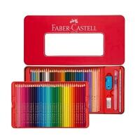 德国辉柏嘉红色铁盒1159经典水溶彩铅24色/36色/48色/60色水溶性彩色铅笔专业美术涂色填色绘画笔手绘笔彩色铅笔