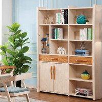御品工匠 简约时尚 北欧现代 书房家具 全实木书柜书架 B02书柜