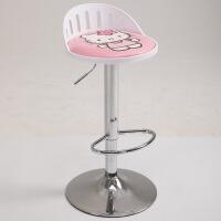 吧椅北欧现代简约吧台椅子升降旋转收银前台酒时尚创意靠背高脚凳