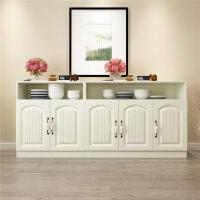 欧式餐边柜客厅柜子储物柜多功能简约现代茶水柜经济型餐厅柜 双门