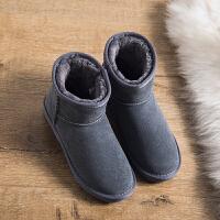 内增高雪地靴女短筒韩版百搭学生短靴女保暖棉鞋子女冬加绒面包鞋