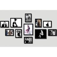 骁熊 服装店照片墙时尚女装模特现代实木相框沙发背景墙装饰画挂画墙画