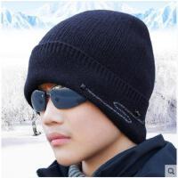 男士冬季毛线帽子加绒保暖护耳帽针织帽青年新款冬天潮
