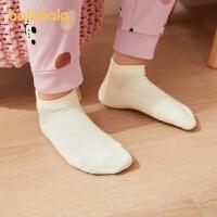 巴拉巴拉儿童袜子季男女童棉袜中大童小童中筒袜舒适亲肤五双装