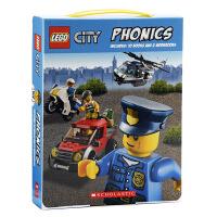 【中商原版】乐高城市 自然拼读 盒装 英文原版Lego City Phonics 内含10册书 学乐