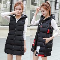 2018秋冬新款女装棉马甲中长款韩版学生羽绒棉坎肩两面穿无袖外套