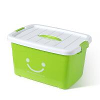 塑料收纳箱装衣服透明玩具整理箱有盖收纳盒储物箱子汽车后备箱杂物收纳用品 120L(6个滑轮) 长63*宽45*高38厘米