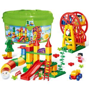 【当当自营】邦宝大颗粒爱上幼儿园益智拼插积木玩具创意轨迹认知建构6515
