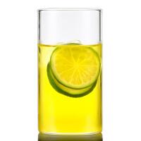 直筒透明耐热玻璃水杯 办公杯 300ml果汁杯 玻璃杯