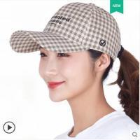 帽子女韩版潮春款时尚英伦格纹潮流春秋时尚潮帽夏格子鸭舌帽
