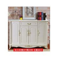 欧式鞋柜白色雕花简约现代烤漆鞋架简约吸塑对开四门3门厅柜玄关