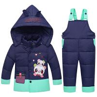 羽绒服套装男童女童两件套1-3岁宝宝小童婴幼儿加厚季外套