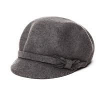 帽子女秋冬天时尚韩版纯羊毛八角帽优雅毛呢贝雷帽时尚百搭毡帽
