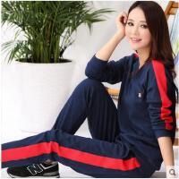 可外穿家居服睡衣女长袖纯棉休闲运动居家套装全棉可外穿家居服韩版