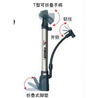山地车带气压表骑行装备 便携迷你自行车打气筒 高压铝合金