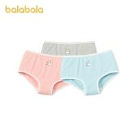 【3件5折价:30】巴拉巴拉儿童内裤女三角女童短裤中大童棉可爱柔软亲肤舒适三条装