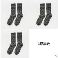 袜子男士纯棉袜毛圈加厚保暖中筒复古粗线毛巾加绒潮简单