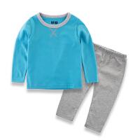 春秋季童装打底衫儿童睡衣裤男童家居服纯棉宝宝套装中小童两件套