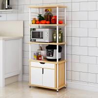 亿家达厨房置物架落地式免打孔多功能收纳架子家用省空间多层碗架调料架