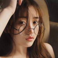 2018082305338942018年新款防护眼镜女圆形复古眼镜框无度数眼睛圆框平面镜韩版眼镜架男潮流