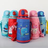儿童保温杯幼儿园小学生水杯子不锈钢宝宝防摔两用吸管壶便携水壶