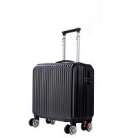 密码登机箱20行李箱包女迷你18寸拉杆箱小清新韩版学生旅行箱男24 黑色 (经典款) 镜面
