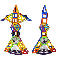 琛达magspace磁力片积木建构片112片磁力建构片磁性积木益智玩具3岁以上